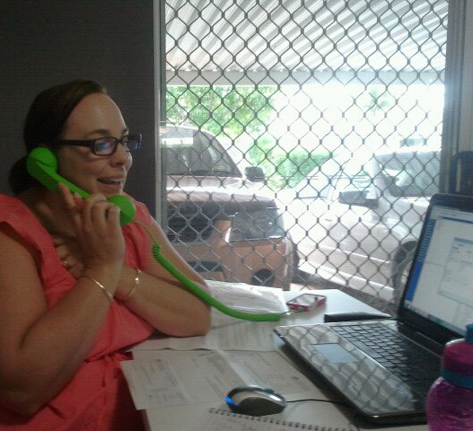 1. The awesome Kelley in our first garage office in Petrie 2010